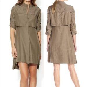 BCBGMAXAZRIA Military Trench Dress bayleaf Size S